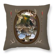 Whitetail Dreams Throw Pillow by Shane Bechler