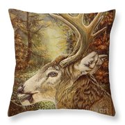 Whitetail Hideaway Throw Pillow