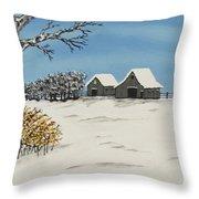 Winter Deer  Lookout Throw Pillow