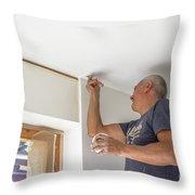 Whitewasher Plastering Wall Throw Pillow