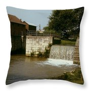 Whitewater Canal Locks Metamora Indiana Throw Pillow