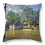 Whitewater Canal Metamora Indiana Throw Pillow