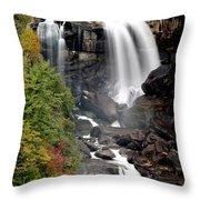 Whitewater Falls - Nc Throw Pillow