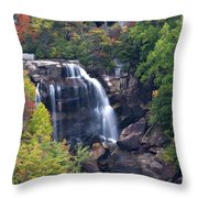 Whitewater Falls In Nc Throw Pillow