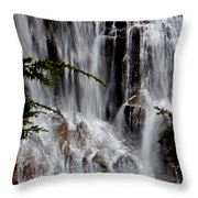 Whitewater Falls Lower Falls 001 Throw Pillow