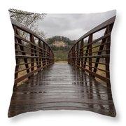 Whitewater Park Bridge Spring 4 Throw Pillow