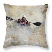 Whitewater Rider Throw Pillow