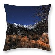 Whitney Campground View Throw Pillow