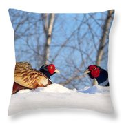 Who Blinks First? Throw Pillow
