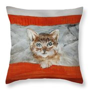 Who Found Who ? Throw Pillow