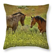 Who Gets To Be Boss Throw Pillow