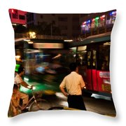 Who Goes First Throw Pillow
