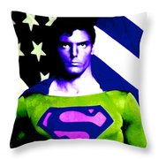 Who Is Superman Throw Pillow