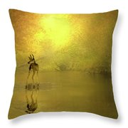 A Silent Autumn Morning Throw Pillow