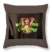 Who Is Your Crawdaddy Throw Pillow