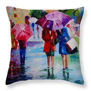 Who Loves Shopping Throw Pillow