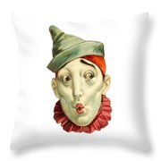 Who Me? Throw Pillow by ReInVintaged