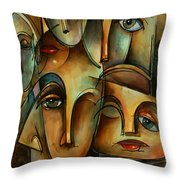 WHO Throw Pillow