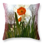 Who Planted Those Flowers Throw Pillow