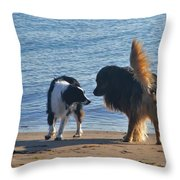 Who Ruffled Your Feathers Throw Pillow