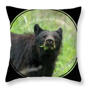 Who Said Vegans Are Not Strong Throw Pillow by Dan Friend