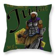 Who Shall Rouse Judah-yellow Trim Throw Pillow