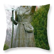 Who Sows Believes In God  Throw Pillow