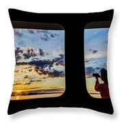 Who Watches The Watcher? Throw Pillow