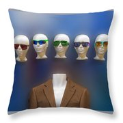 Who Shall I Be Today Throw Pillow