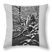 Whooing Around Throw Pillow