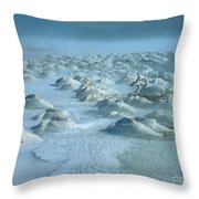 Whooper Swans In Snow Throw Pillow