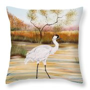 Whooping Cranes-jp3156 Throw Pillow