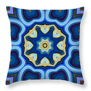 Whorl Kaleidoscope Throw Pillow