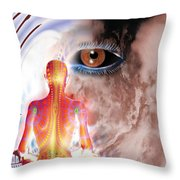 Whose I Is Eckharts Eye Throw Pillow