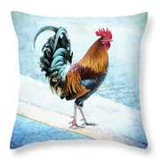 Why Did The Chicken... Throw Pillow