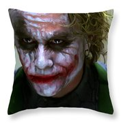 Why So Serious Throw Pillow by Paul Tagliamonte