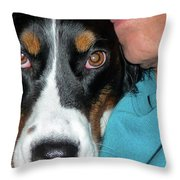 Why The Long Face Throw Pillow