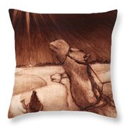 Why Would Wisemen Follow A Star? Throw Pillow by Linda Anderson