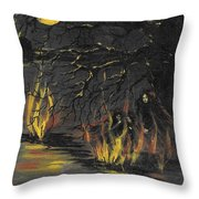 Moon Gathering Throw Pillow