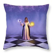 Wiccan Dawn Throw Pillow