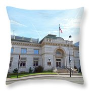 Wichita Carnegie Library Throw Pillow