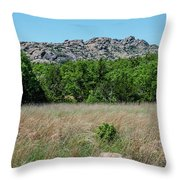 Wichita Mountains Wildlife Refuge - Oklahoma Throw Pillow