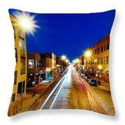 Wicker Park Light Trails Throw Pillow