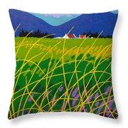 Wicklow Meadow Ireland Throw Pillow