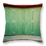 Wide Barn Door Throw Pillow