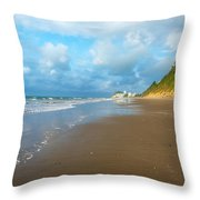 Wide Beach And Nature Throw Pillow