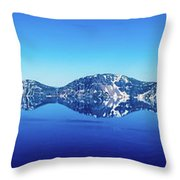Wide Crater Lake Throw Pillow