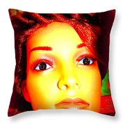 Wide Eyed Willow Throw Pillow