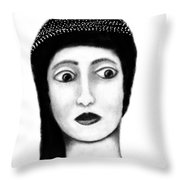 Wide Eyes Surprise Throw Pillow