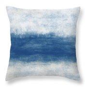 Wide Open Ocean- Art By Linda Woods Throw Pillow